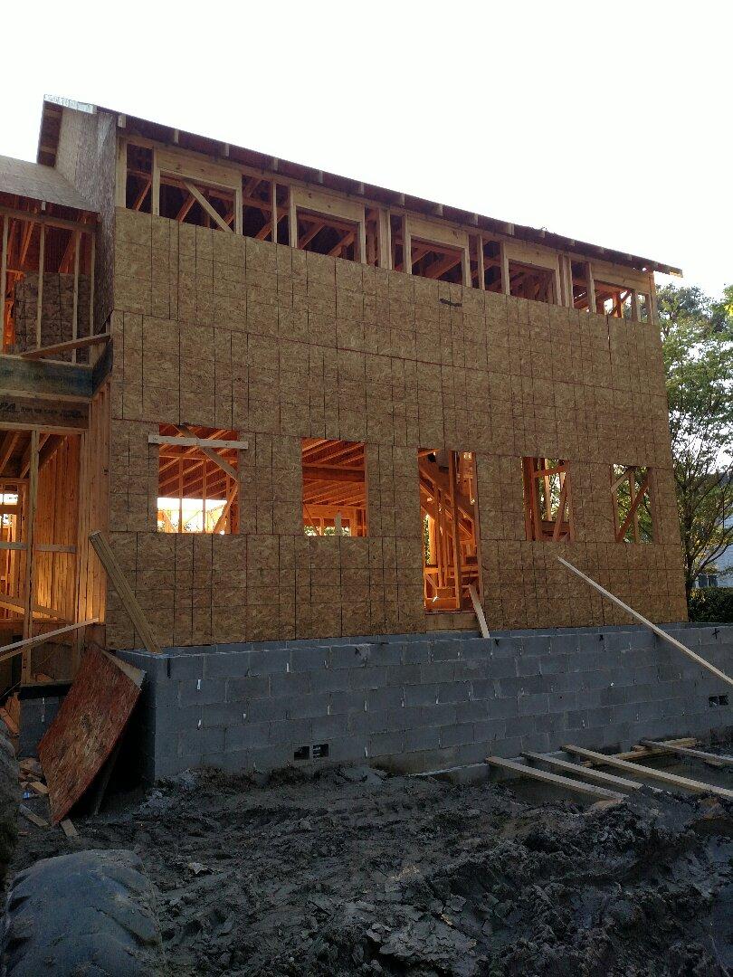 Chesapeake, VA - Custom home framing