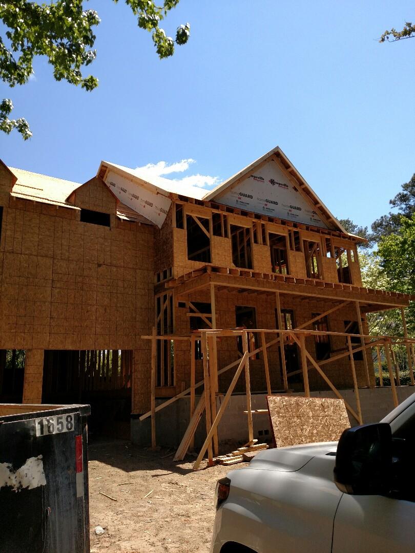 Chesapeake, VA - Custom home working on the cornice