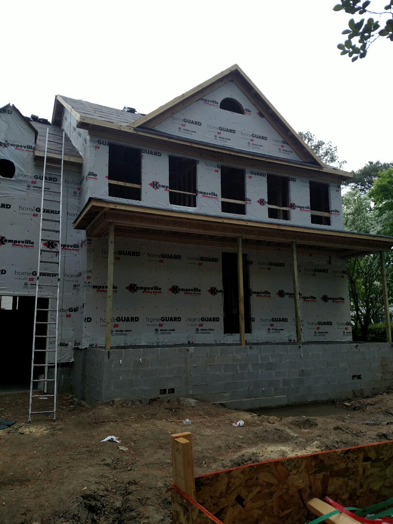 Chesapeake, VA - Custom home ready for windows to be installed.