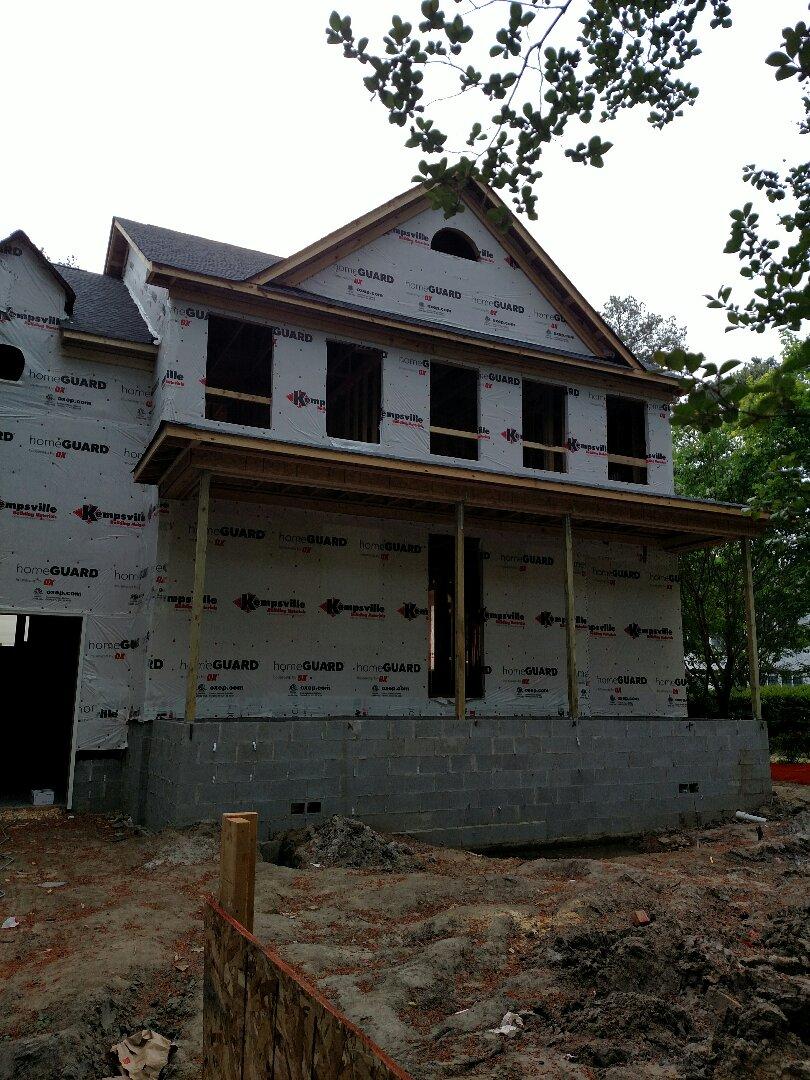 Chesapeake, VA - Custom home plumbing is starting