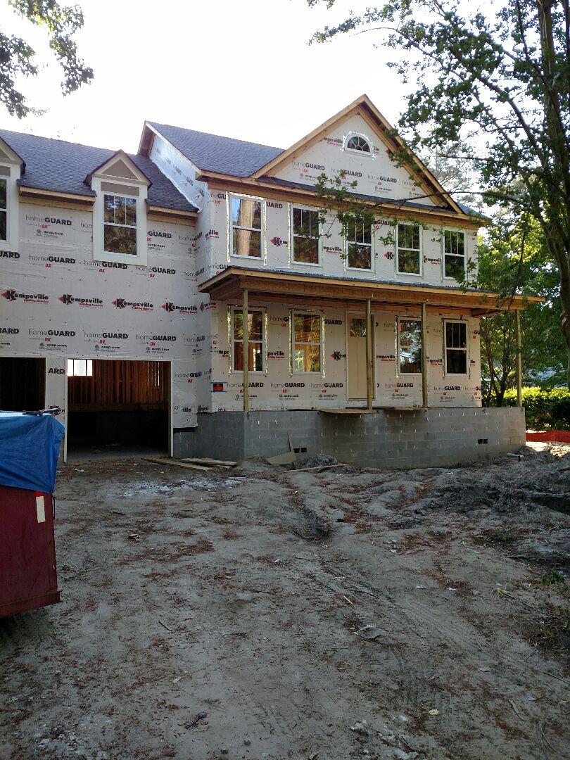 Chesapeake, VA - Custom Home ready for brick skirt