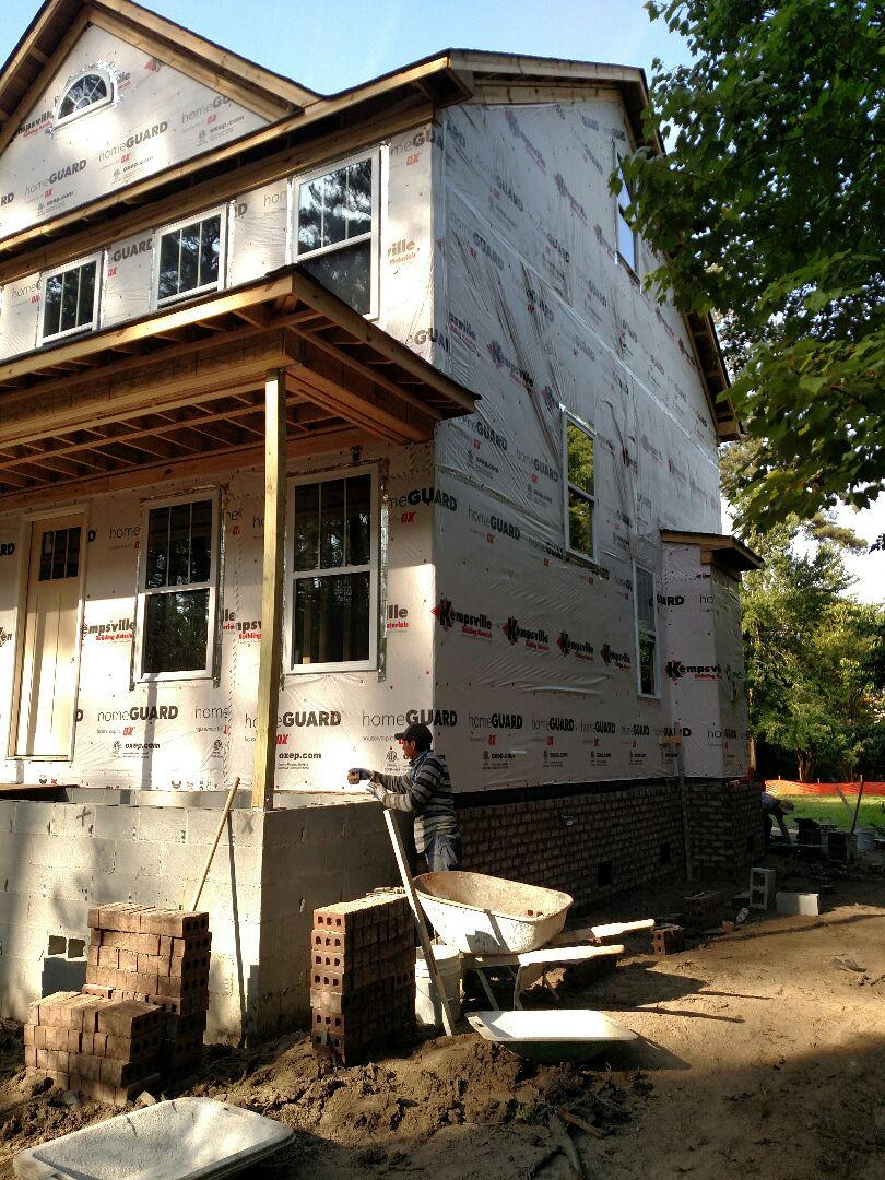 Chesapeake, VA - Custom home brick started today