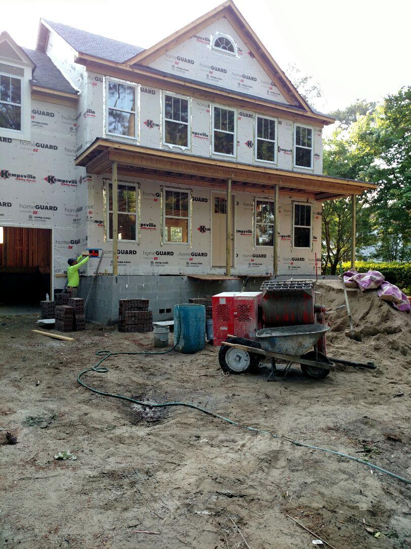 Chesapeake, VA - Custom home being bricked