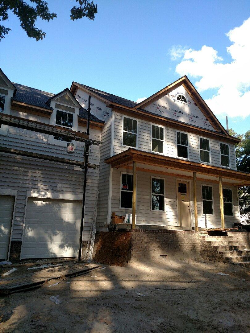 Chesapeake, VA - New construction custom home siding almost finished