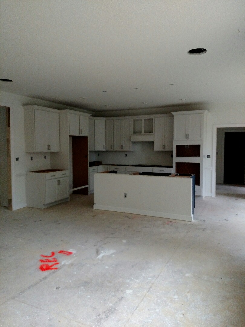 Chesapeake, VA - Custom Home new construction - cabinets are in and ready for granite