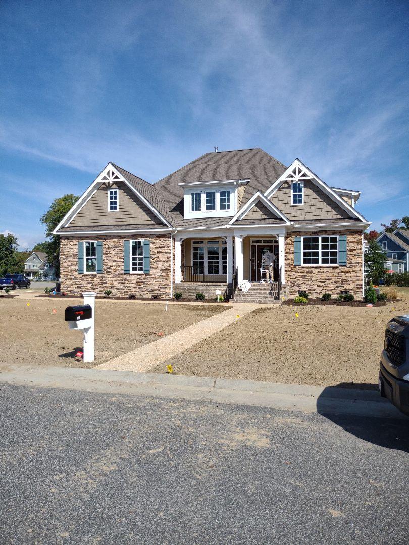 Carrollton, VA - Custom home finishing up
