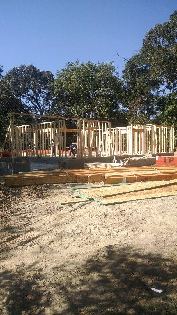 Chesapeake, VA - 1st floor framing going up on new home!
