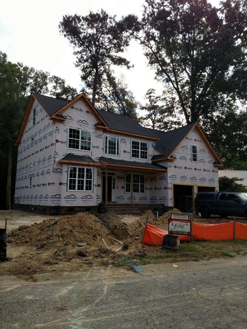 Suffolk, VA - Checking on new spec home