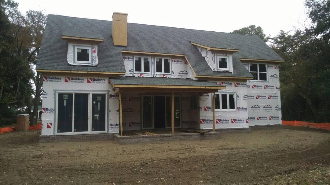 Chesapeake, VA - Putting final touches on the roof and interior location of plumbing fixtures and soaking tub.... exciting!!!