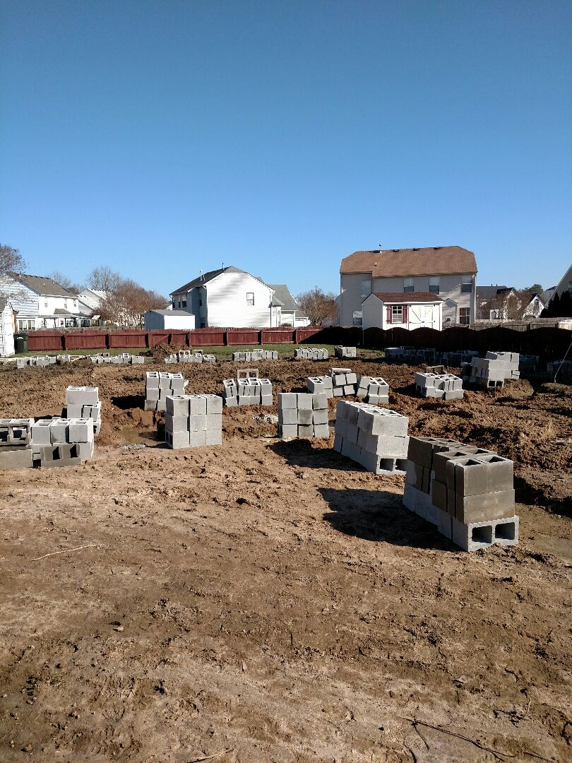 Suffolk, VA - Client's new home foundation inspection