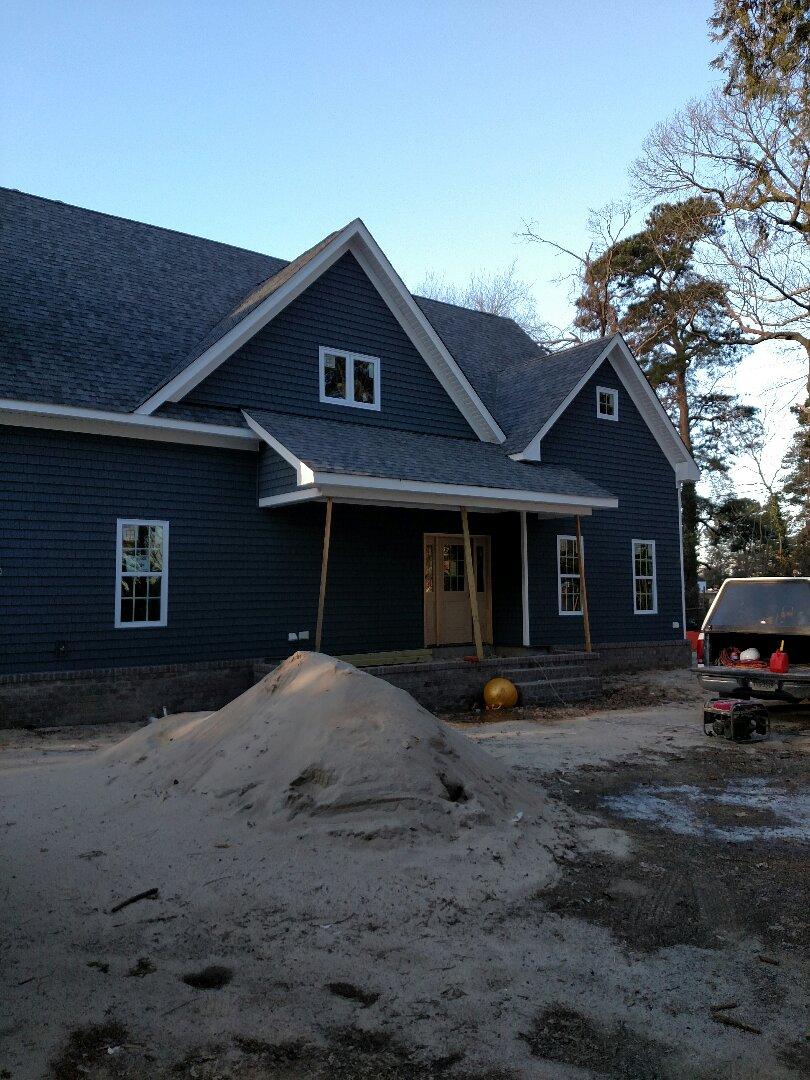 Chesapeake, VA - Monday inspection of new home progress in Chesapeake