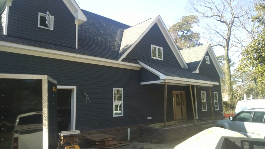 Chesapeake, VA - Beautiful custom cottage just being trimmed and cabinets installed....