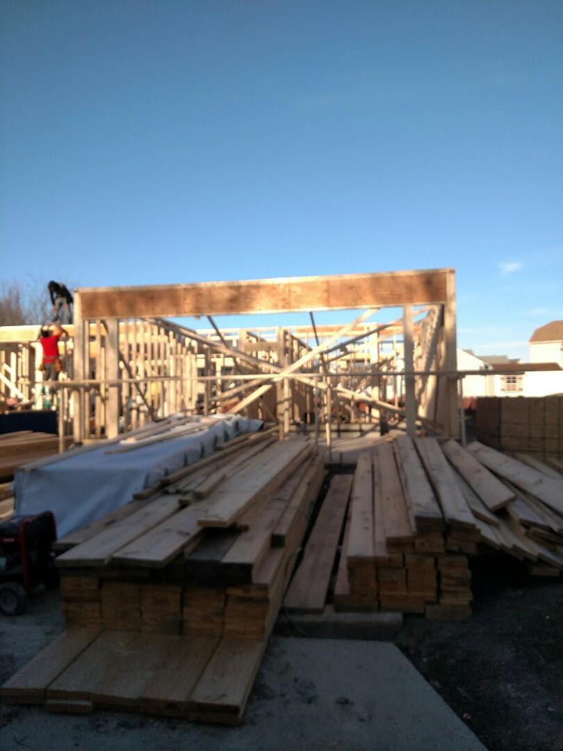 Suffolk, VA - Checking on new home construction progress