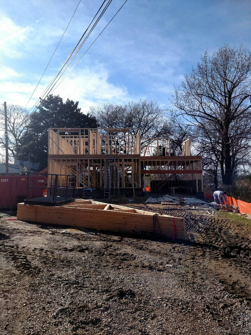 Chesapeake, VA - Checking progress on new home construction