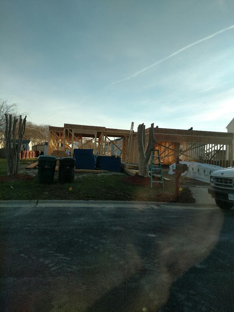 Suffolk, VA - New home construction progress