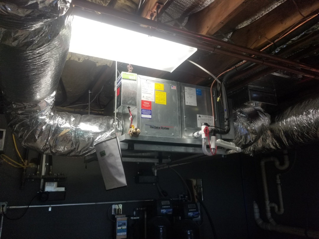 Finished installing Unico system along with amana condenser.