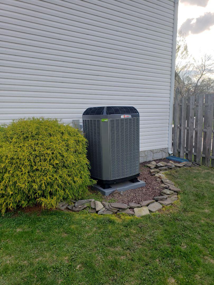 Bensalem, PA - Trane Air Handler and Heat pump