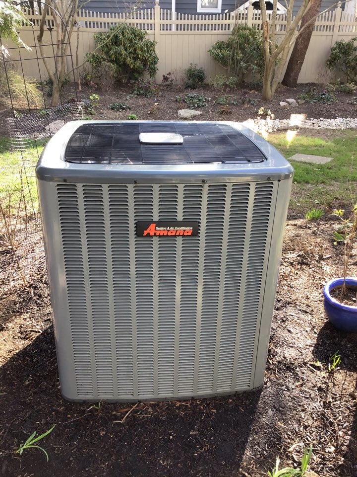 Performed AC tune up on a Unico high velocity system with a Amana condenser