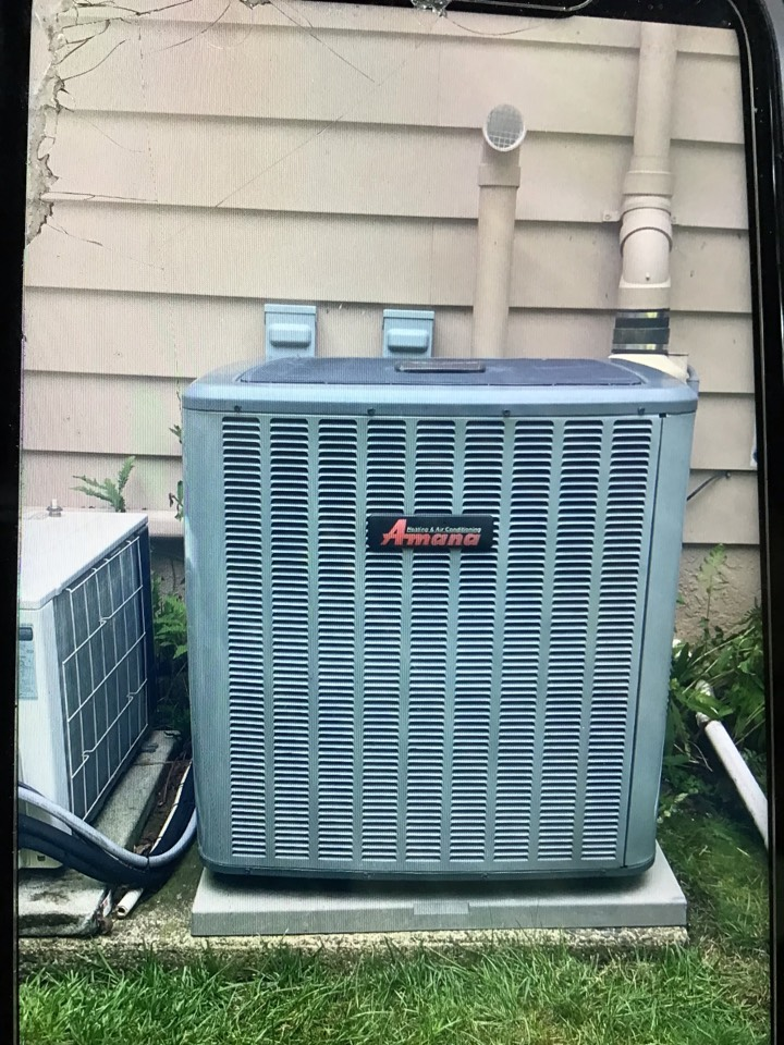 Performed Ac tune up on a. Amana AC system