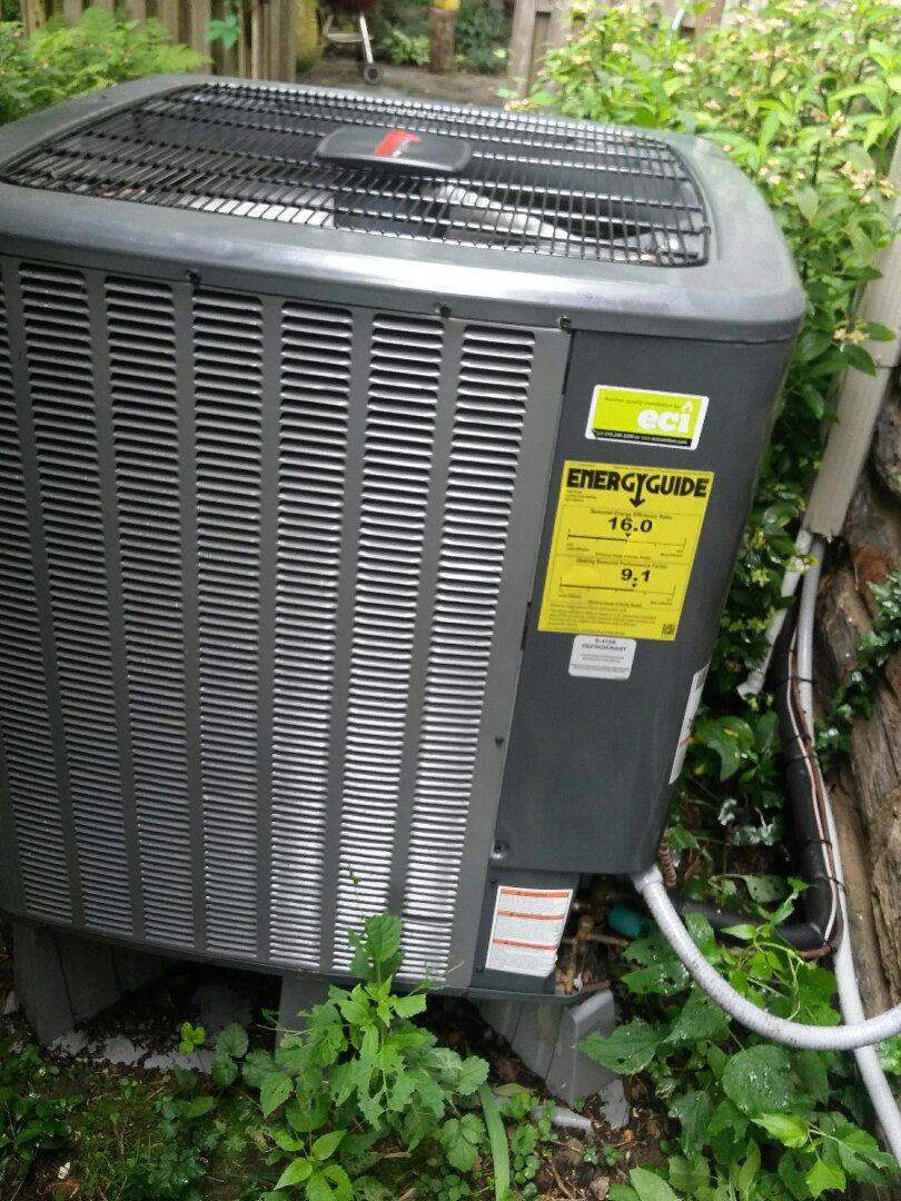 Cheltenham Township, PA - Air conditioning service air conditioning tune up Amana condenser and a unico air conditioning system