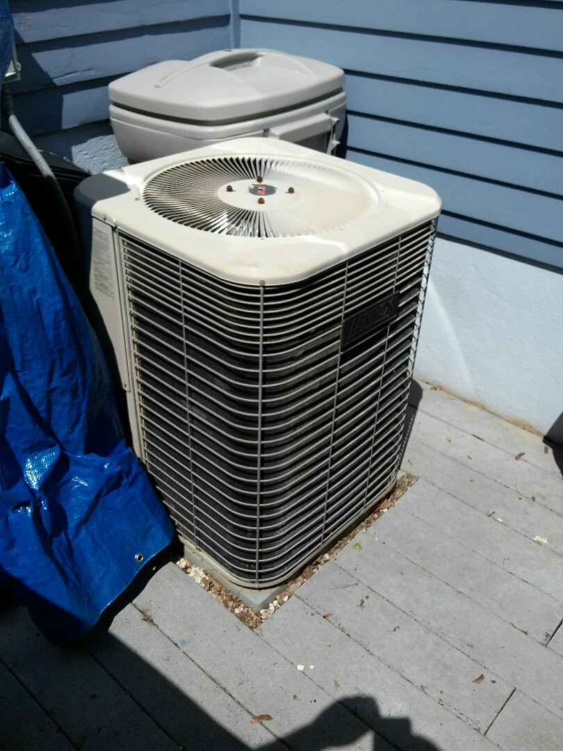 Lawrence Township, NJ - Bad capacitor Lennox air conditioning system condenser air conditioning system service
