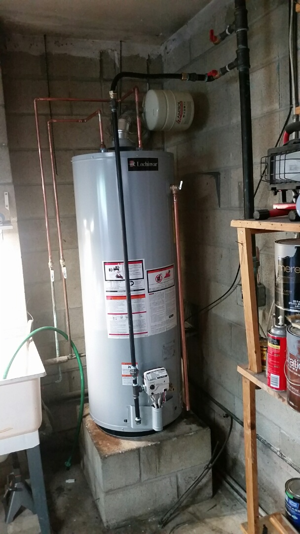 North Wales, PA - We installed a new 50 gallon gas hot water heater