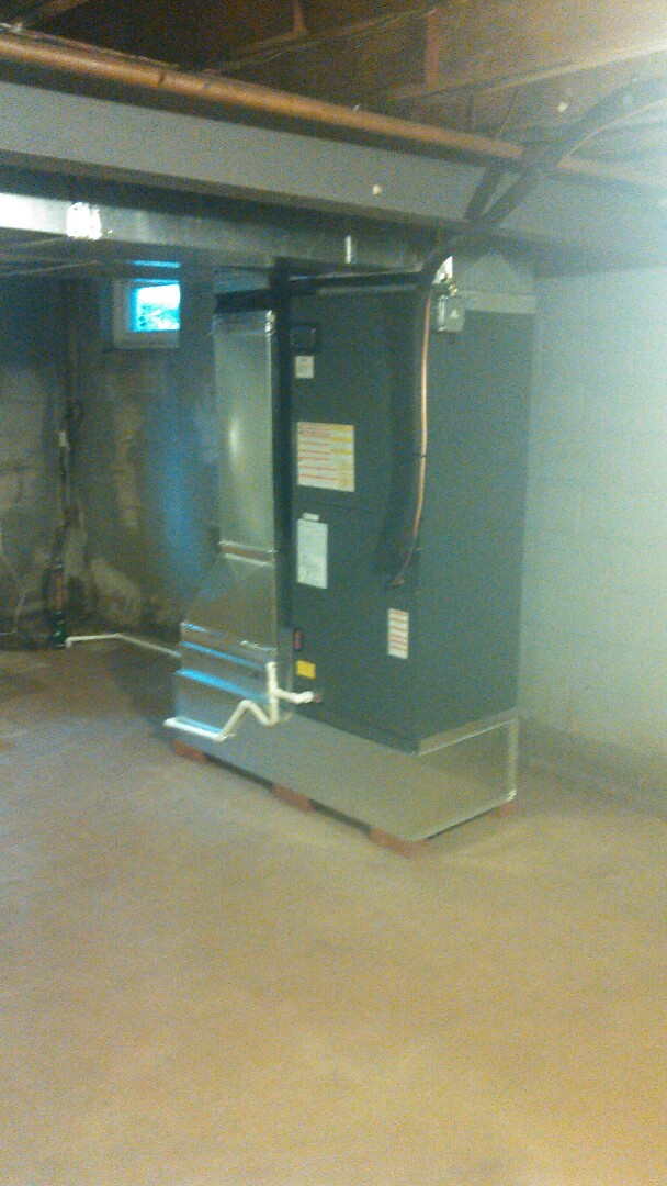 Finished product of 1st floor airhandler..