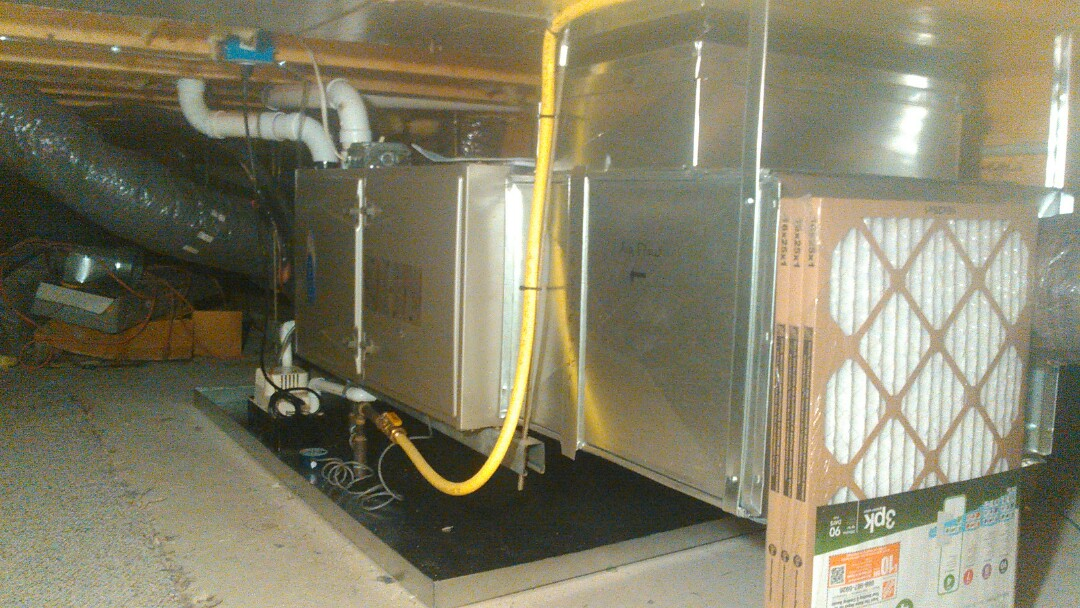 North Wales, PA - Carrier gas furnace and a/c installation.