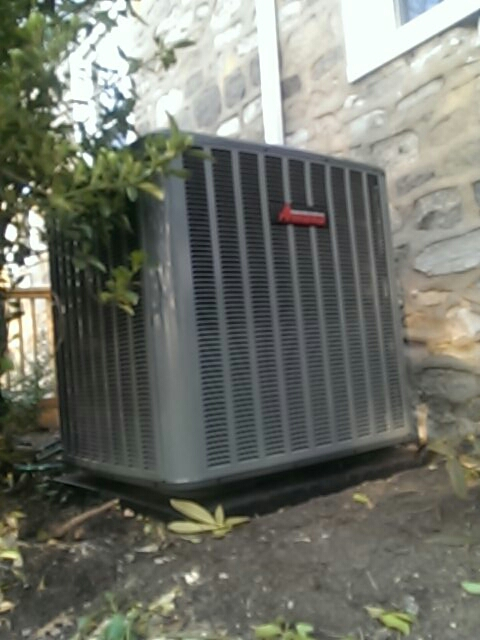 Norristown, PA - Newly installed amana condenser.