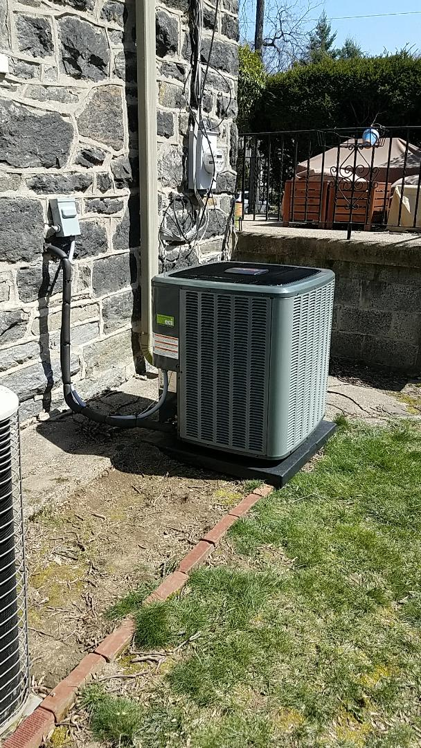 Narberth, PA - Finished installing Amana condenser