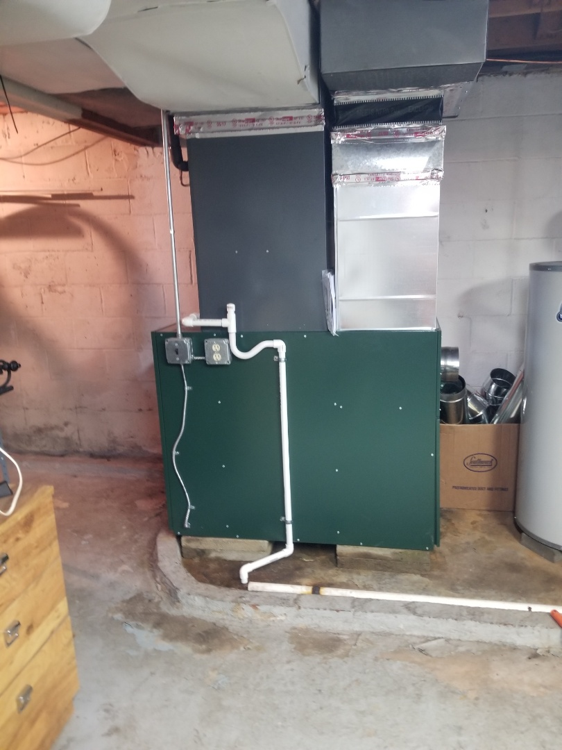 Southampton, PA - finished installing low body oil furnace with Goodman a/c coil.