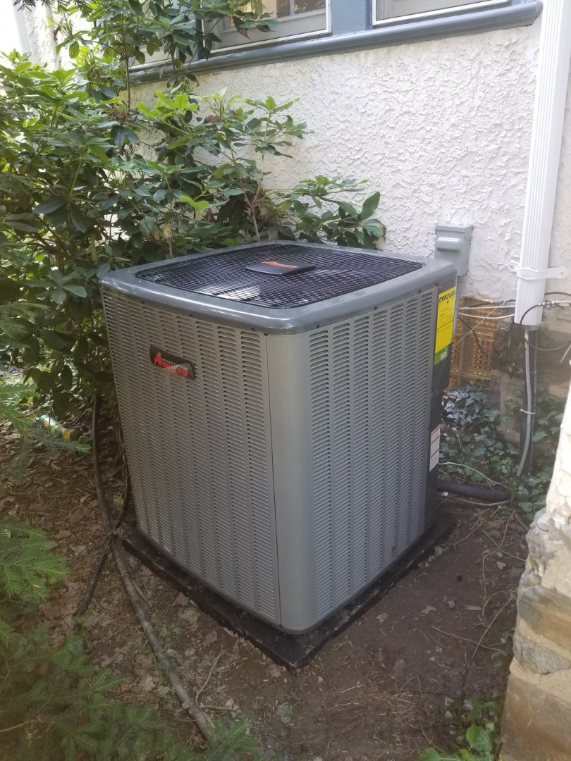Narberth, PA - finished installing amana condenser.