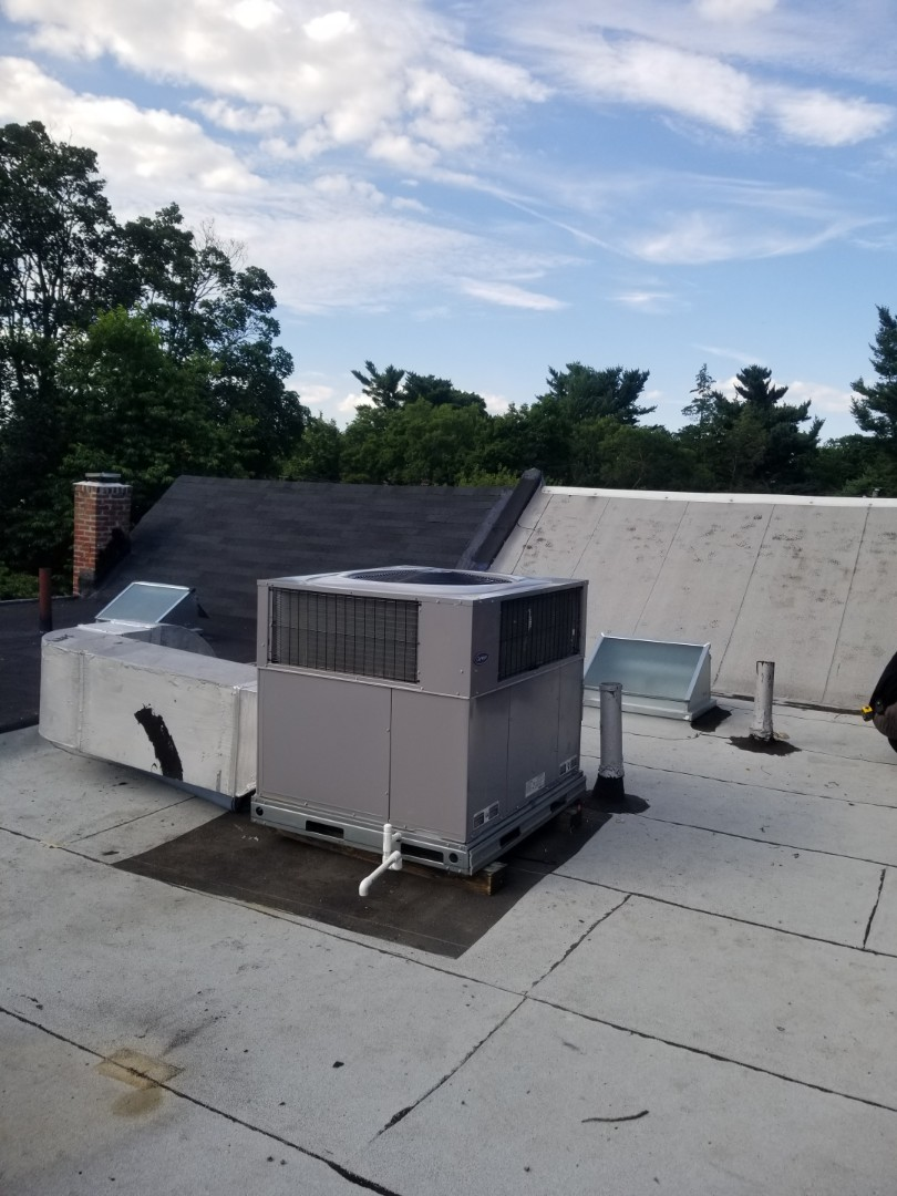 Finished installing new carrier 3.5 ton rooftop unit.