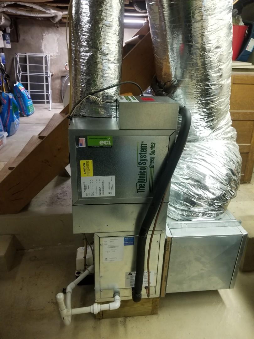 Wyndmoor, PA - finished installing unico blower.