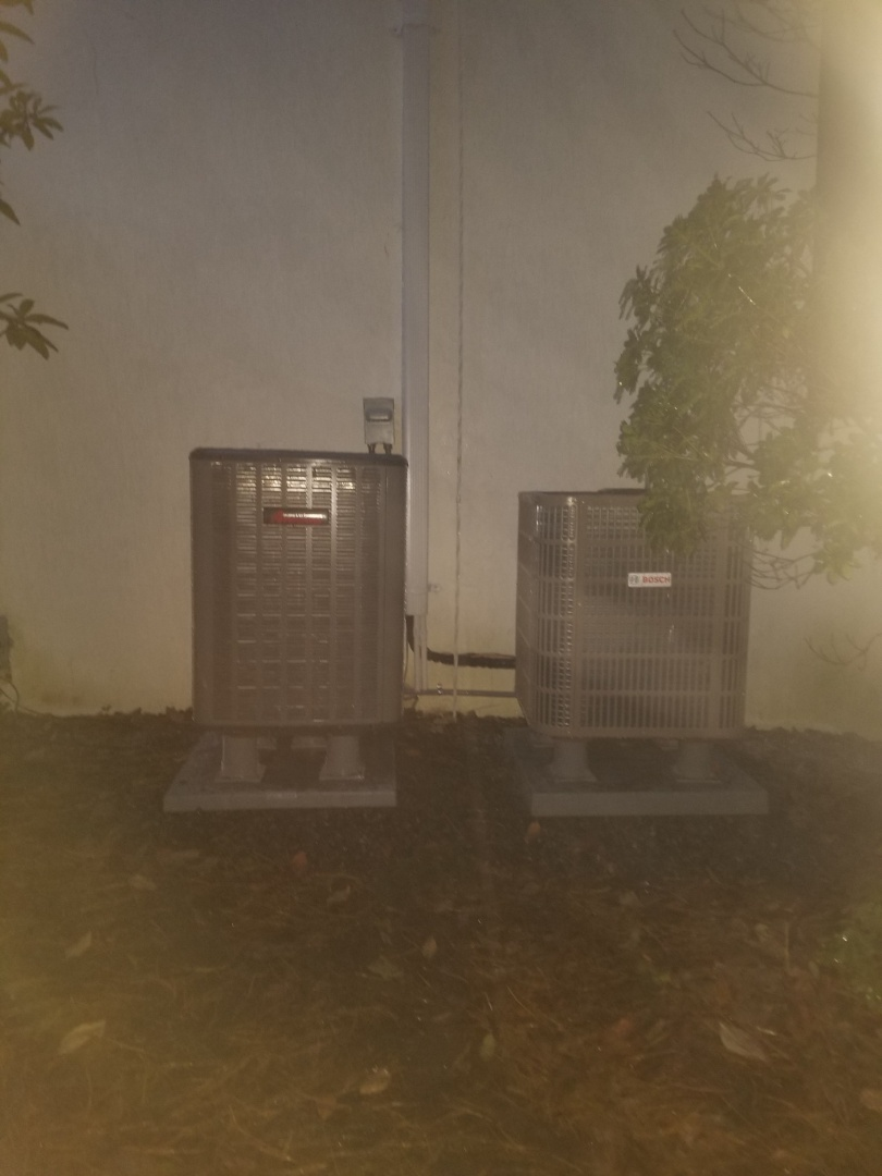 Warminster, PA - Finished installing a amana and Bosch condensing units.