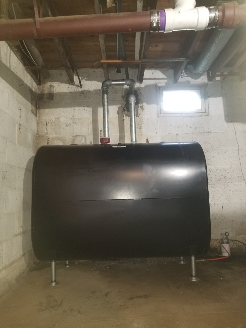 Croydon, PA - Finished installing new 275 gallon oil tank.