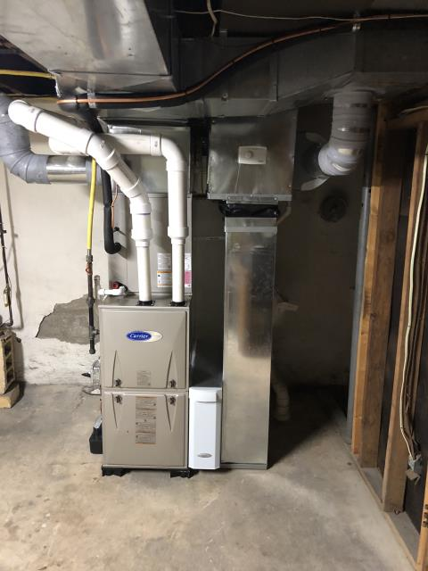 Upper Moreland Township, PA - Carrier Gas Furnace and Air Conditioner installed in Huntingdon Valley, PA.