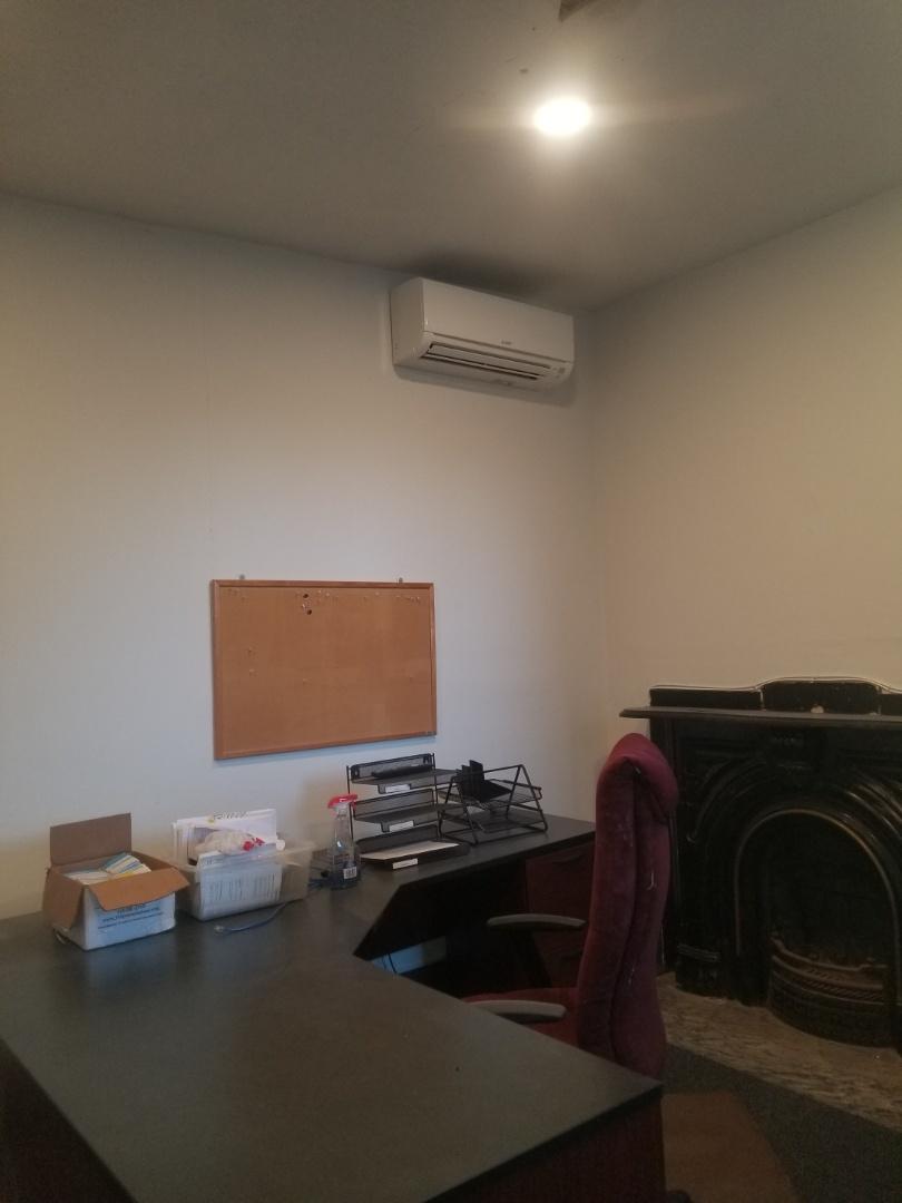 Trenton, NJ - Finished installing Mitsubishi indoor units.