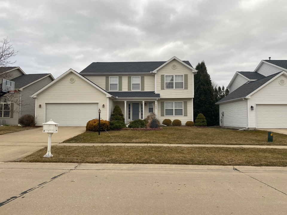 Savoy, IL - Hail damage was the reason this homeowner needed a new roof! Our crew took advantage of a beautiful 67° March day and got the job done! This homeowner chose the beautiful charcoal GAF HDZ shingles and is now set for 50 years!