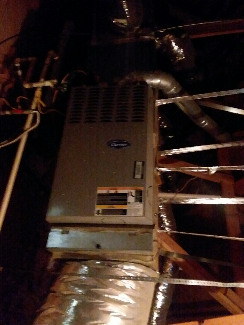 Mesquite, TX - Replaced blower motor on carrier furnace in attic