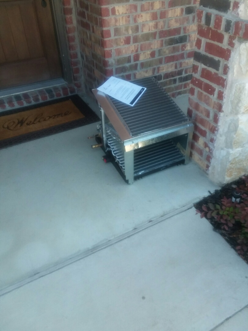 Rockwall, TX - Installing evap coil for customer in  Rockwall