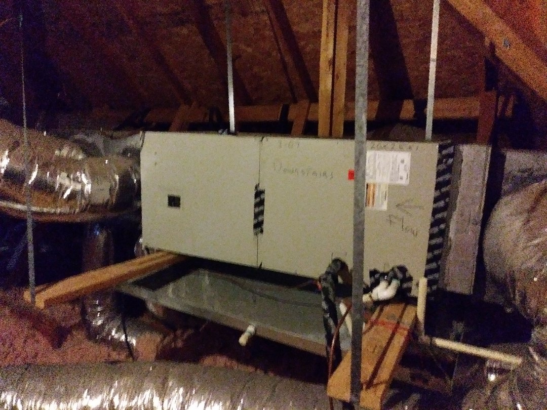 Forney, TX - Replacing air handler for wonderful customer.