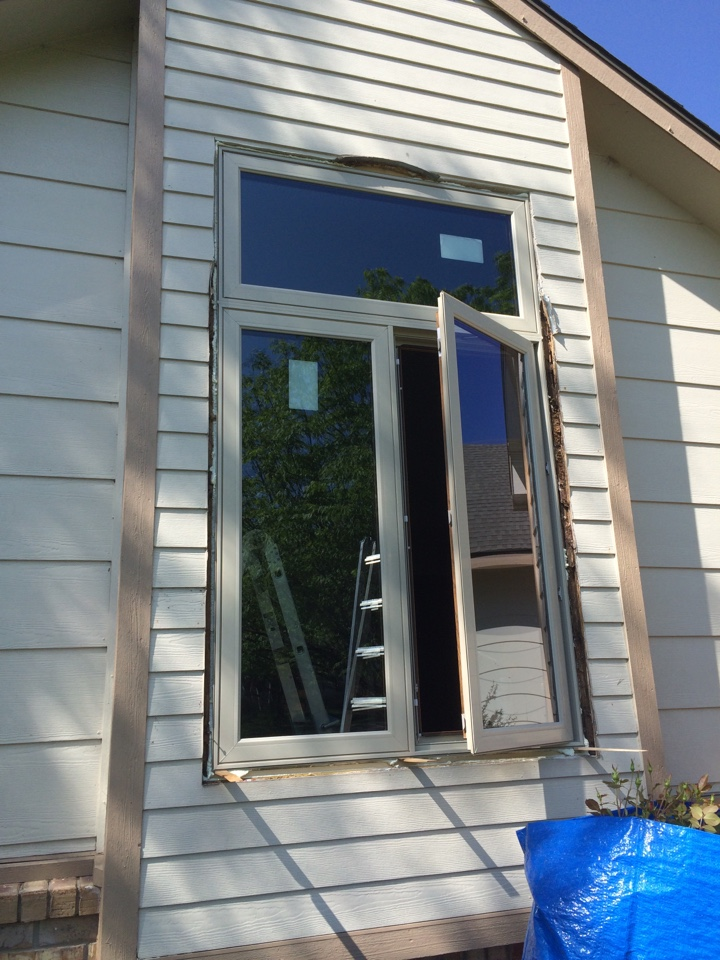 Wichita, KS - Soft Lite Casement Windows with Transom. Energy efficient windows in Wichita, KS.