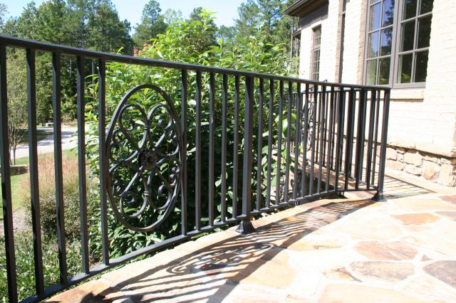 "Raleigh, NC - Looking for custom wrought iron railings inside (or outside)  the 5-Points/ Hayes Barton/ IBL area?  Our railings are hand build right here in Raleigh, safe, sturdy and powder coated for long term low maintenance.  We also offer iron staircases, custom iron gates and iron fences.  No matter where you are in Raleigh, your home can have ""Inside the Beltline"" curb appeal!"