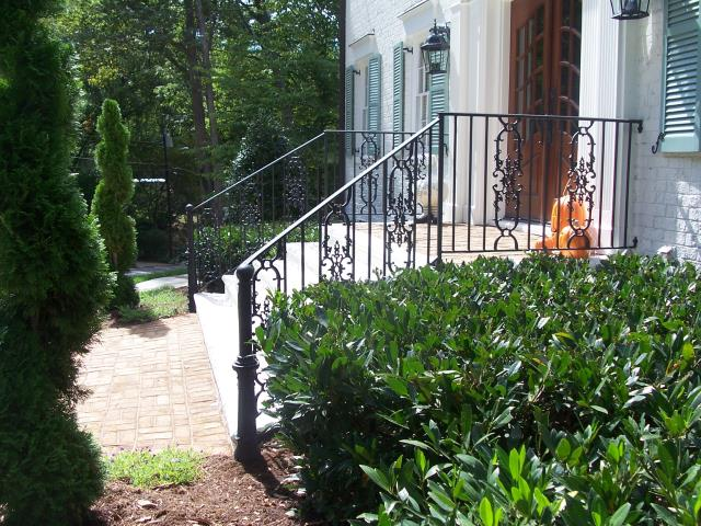 Rolesville, NC - We custom fabricate and install wrought iron railings for existing homes and new construction homes in Rolesville.  To find out more, contact us!