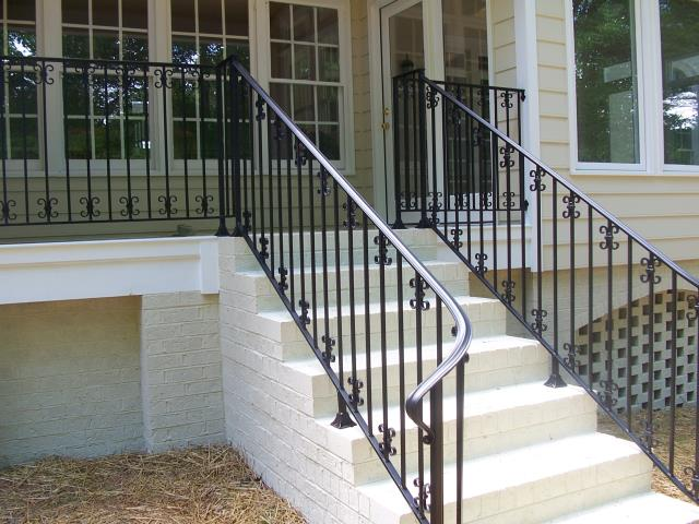 Pittsboro, NC - We custom build beautiful iron railings for new construction homes in Pittsboro and Chatham County. If you are a builder, contractor or having a new home built, give us a call and see how we can help!