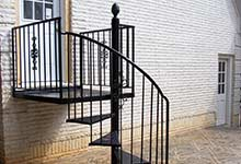 Angier, NC - We custom build and install beautiful iron staircases for homes and businesses.