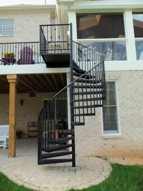 Four Oaks, NC - Thinking about elegant, sturdy  custom wrought iron railings, spiral stairs, gates, doors or fences?  Contact us!