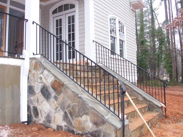Franklinton, NC - We custom build and install wrought iron railings for new construction homes and existing homes in Franklinton and Franklin Co.  If you are a builder, contractor or homeowner looking for custom iron rails, staircases, gates, fences or anything else, give us a call!
