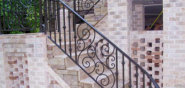 Durham, NC - Custom Iron Railings can be as simple or as ornate as you want.  Let our artisans design wrought iron railings as unique as you!